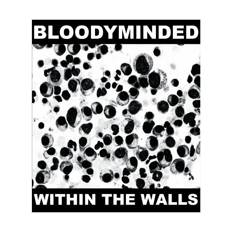 "BLOODYMINDED ""Within The Walls (Cells)"" (Black on White) Men's T-Shirt by BLOODYMINDED Shop"