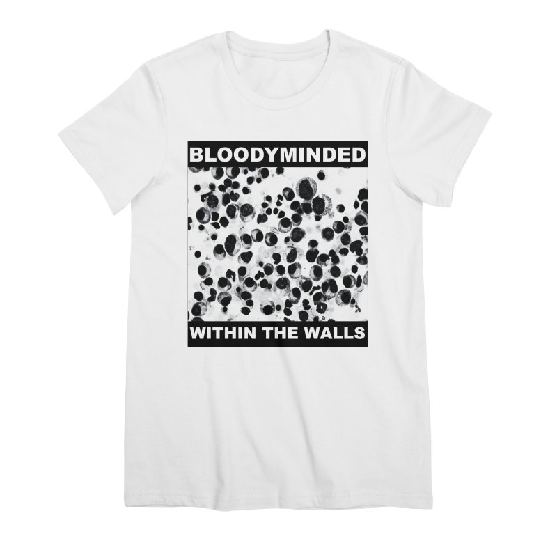 """BLOODYMINDED """"Within The Walls (Cells)"""" (Black on White) Women's T-Shirt by BLOODYMINDED Shop"""