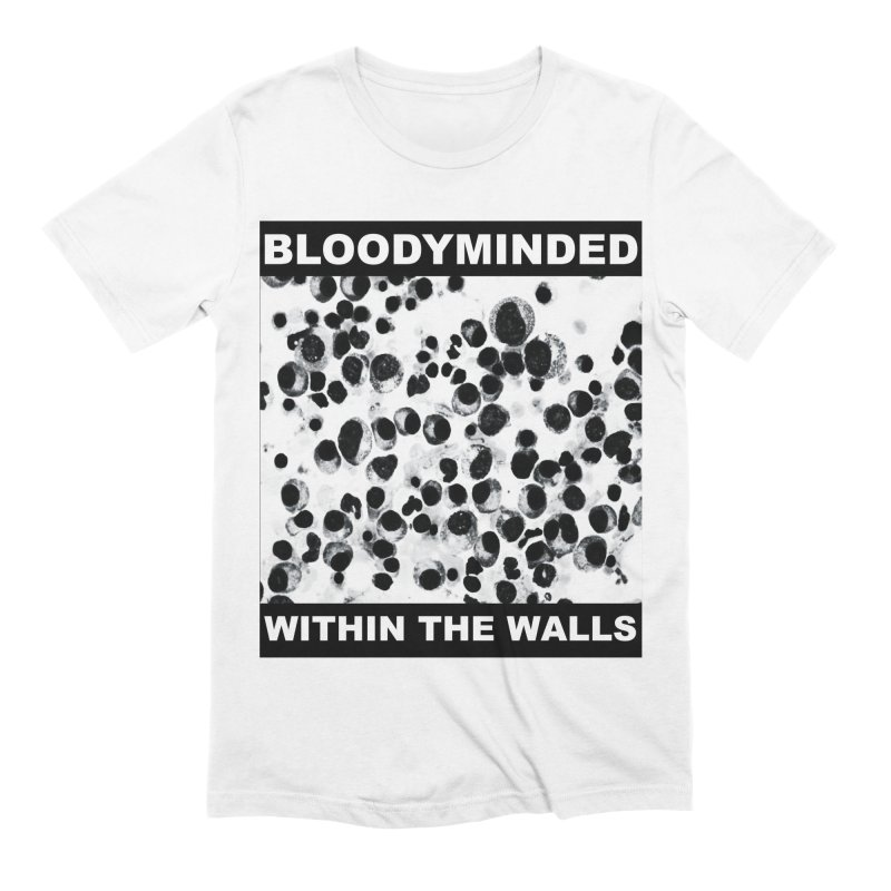 """BLOODYMINDED """"Within The Walls (Cells)"""" (Black on White) Men's T-Shirt by BLOODYMINDED Shop"""
