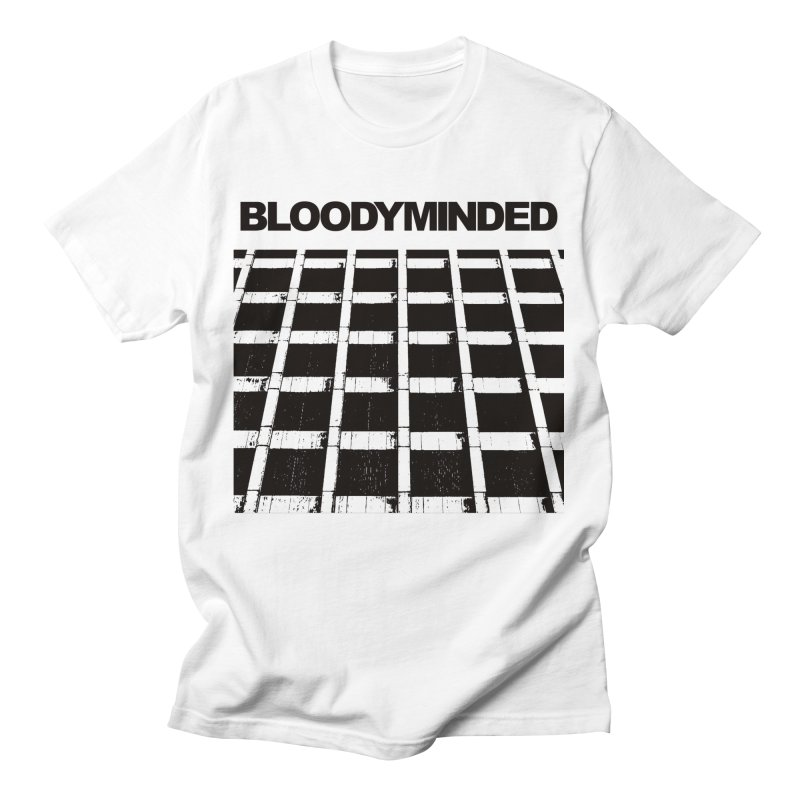 """BLOODYMINDED """"BLOODYMINDED Album"""" (Black on White) Men's T-Shirt by BLOODYMINDED Shop"""