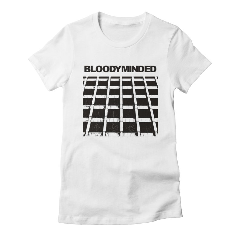 """BLOODYMINDED """"BLOODYMINDED Album"""" (Black on White) Women's T-Shirt by BLOODYMINDED Shop"""