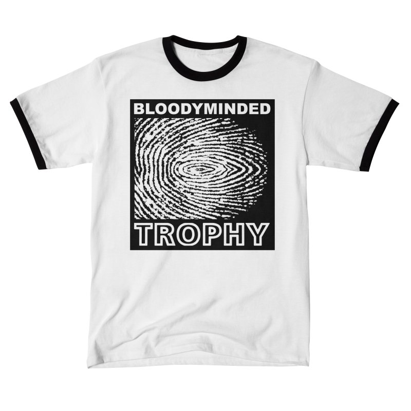 "BLOODYMINDED ""Trophy"" (Black on White) Men's T-Shirt by BLOODYMINDED Shop"