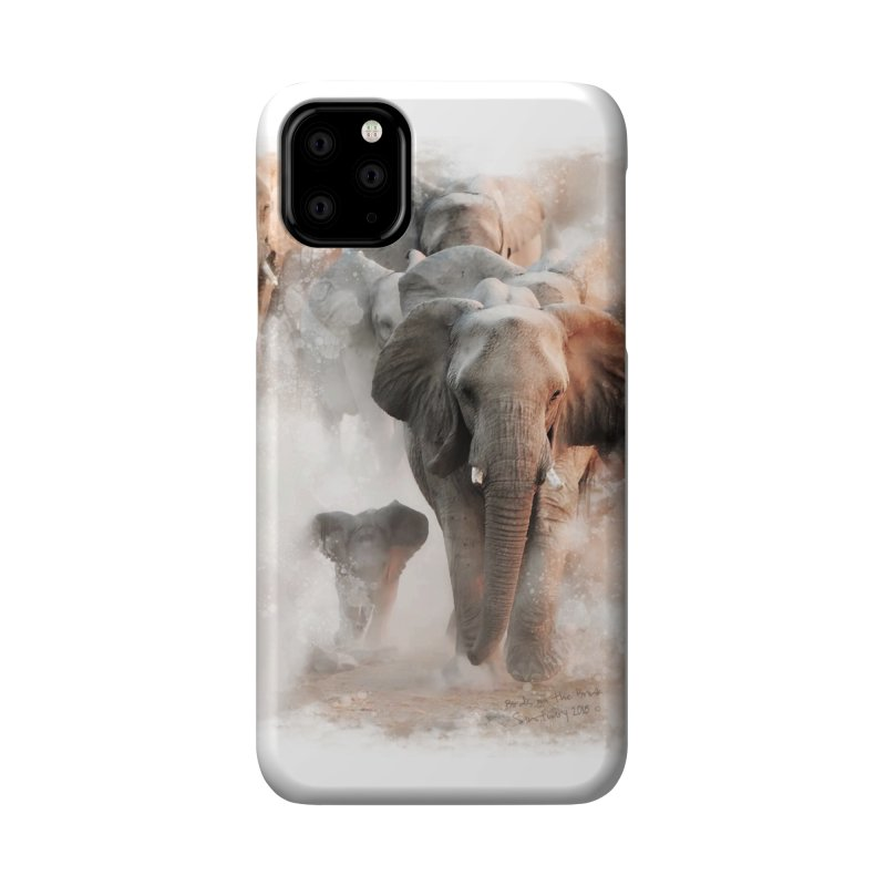 Elephant Herd on the Move Accessories Phone Case by Birds on the Brink Sanctuary Shop