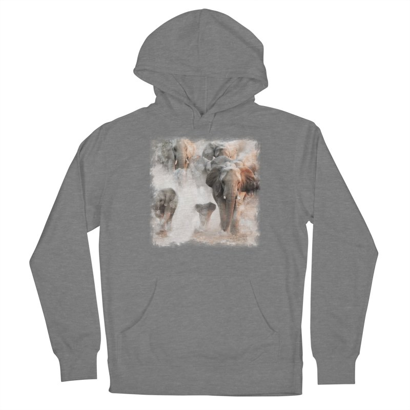 Elephant Herd on the Move Men's Pullover Hoody by Birds on the Brink Sanctuary Shop