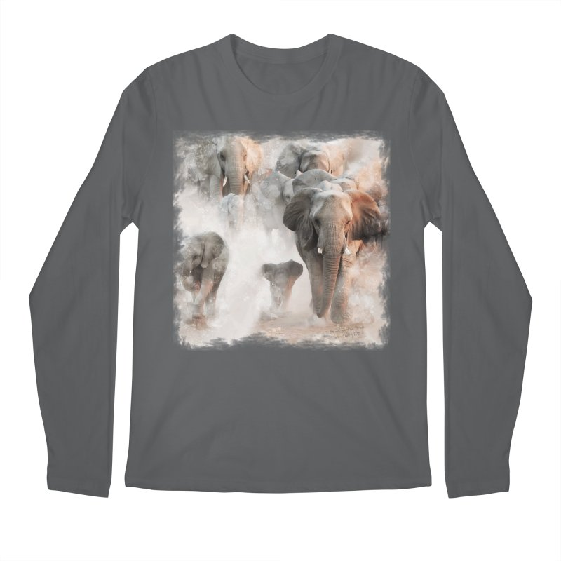 Elephant Herd on the Move Men's Longsleeve T-Shirt by Birds on the Brink Sanctuary Shop