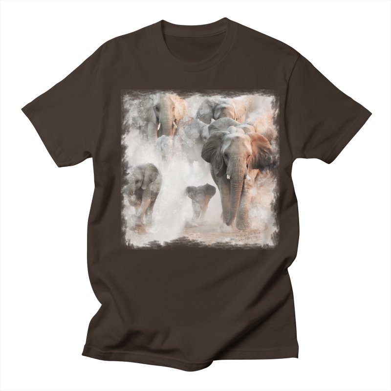 Elephant Herd on the Move Men's T-Shirt by Birds on the Brink Sanctuary Shop