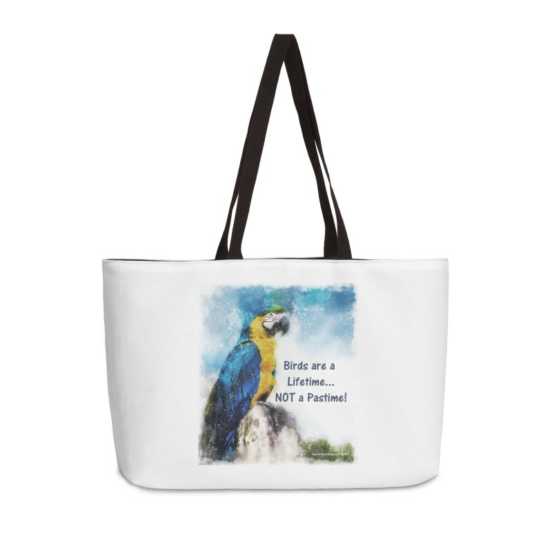 Macaw - Birds are a Lifetime, NOT a Pastime! Accessories Bag by Birds on the Brink Sanctuary Shop