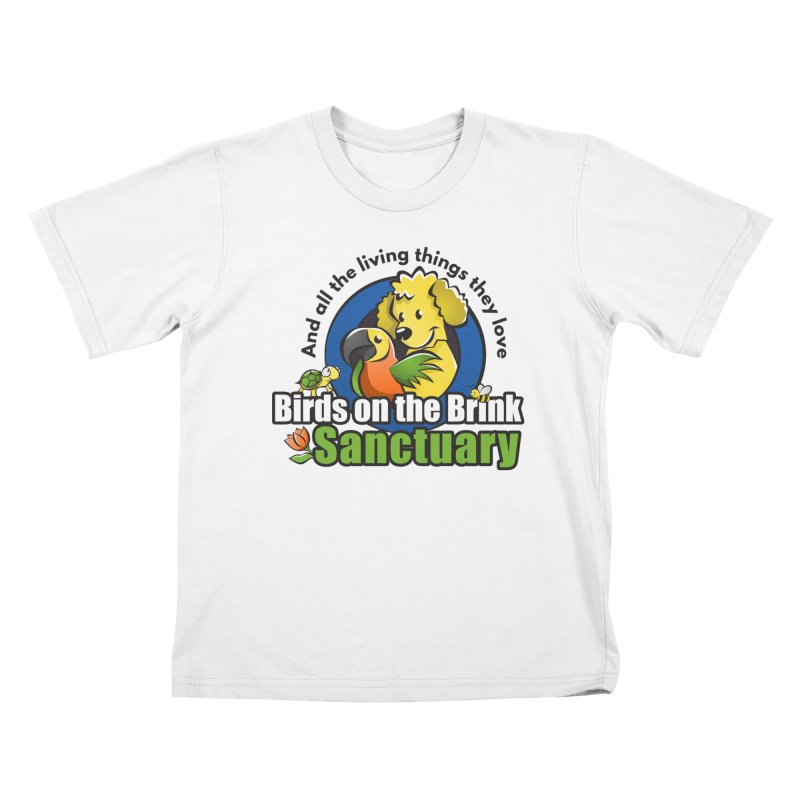 Birds on the Brink Logo Gear Kids T-Shirt by Birds on the Brink Sanctuary Shop