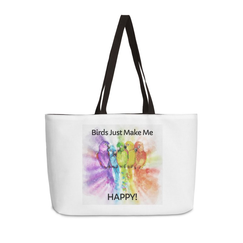 Birds Just Make Me HAPPY! Accessories Bag by Birds on the Brink Sanctuary Shop