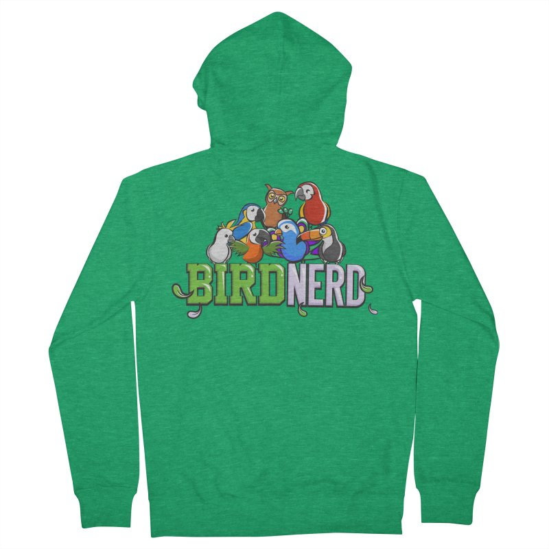Bird Nerd Men's Zip-Up Hoody by Birds on the Brink Sanctuary Shop