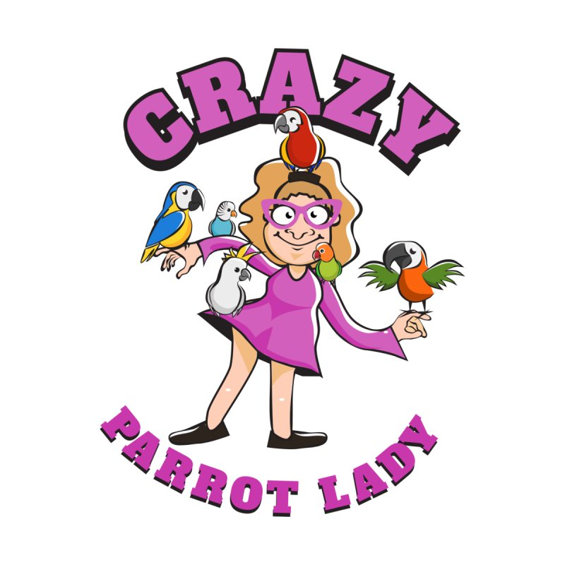 Crazy Parrot Lady - Purple Men's T-Shirt by Birds on the Brink Sanctuary Shop