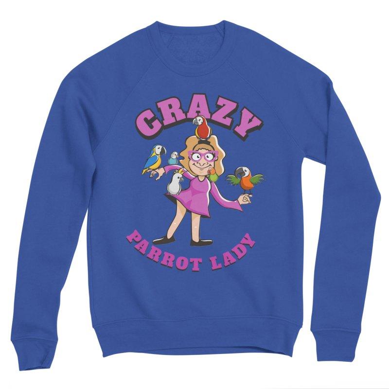 Crazy Parrot Lady - Purple Men's Sweatshirt by Birds on the Brink Sanctuary Shop