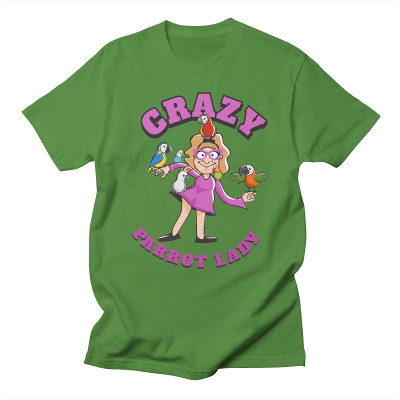 Crazy Parrot Lady - Purple Men's T-Shirt by Birds on the Brink Sanctuary Shop