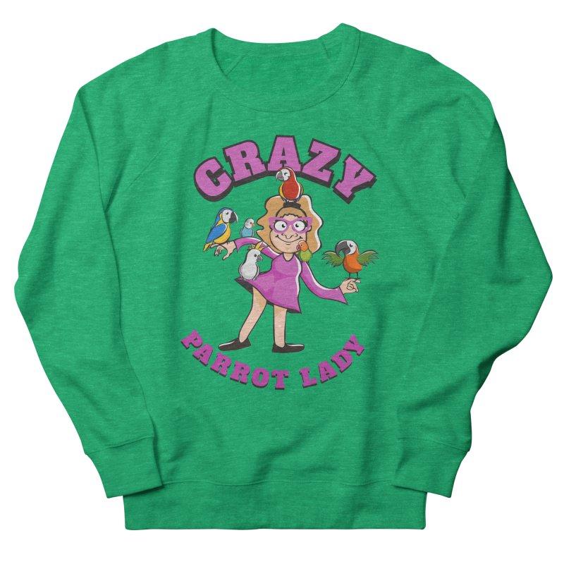 Crazy Parrot Lady - Purple Women's Sweatshirt by Birds on the Brink Sanctuary Shop