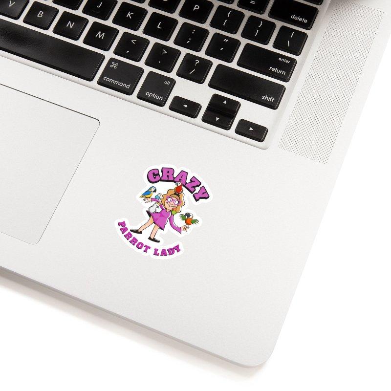 Crazy Parrot Lady - Purple Accessories Sticker by Birds on the Brink Sanctuary Shop