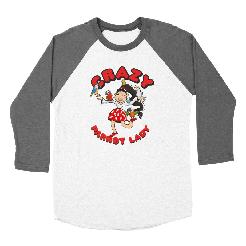 Crazy Bird Lady - Red Men's Longsleeve T-Shirt by Birds on the Brink Sanctuary Shop