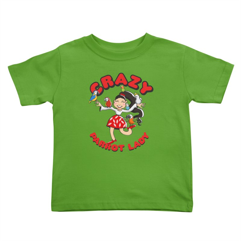 Crazy Bird Lady - Red Kids Toddler T-Shirt by Birds on the Brink Sanctuary Shop