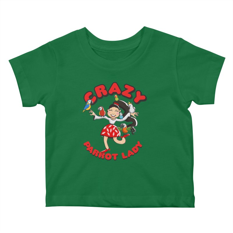 Crazy Bird Lady - Red Kids Baby T-Shirt by Birds on the Brink Sanctuary Shop