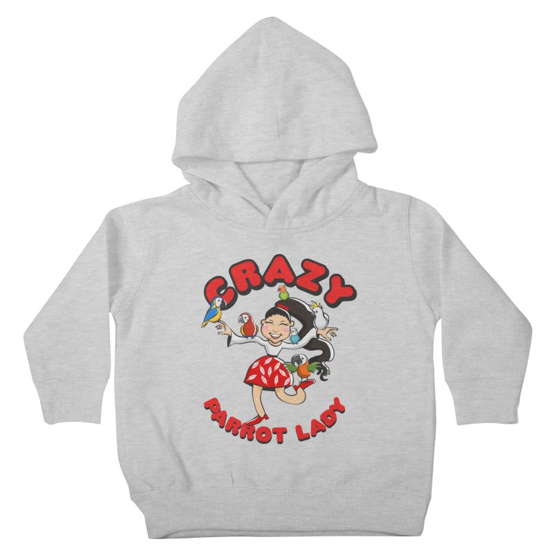 Crazy Bird Lady - Red Kids Toddler Pullover Hoody by Birds on the Brink Sanctuary Shop