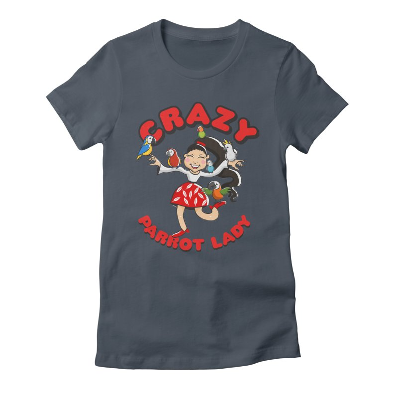 Crazy Bird Lady - Red Women's T-Shirt by Birds on the Brink Sanctuary Shop