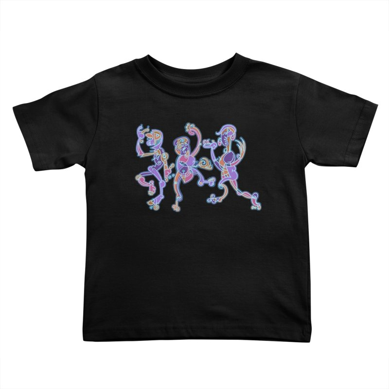 Dancing Figures Kids Toddler T-Shirt by BRAVO's Shop