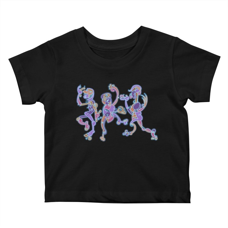 Dancing Figures Kids Baby T-Shirt by BRAVO's Shop