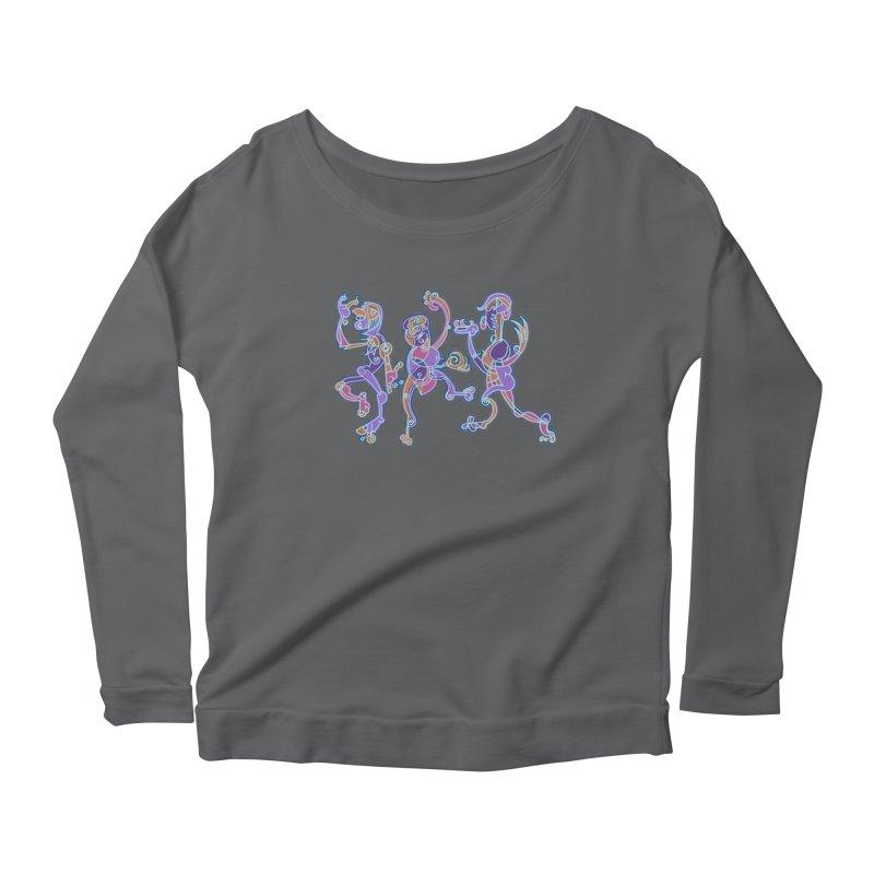 Dancing Figures Women's Scoop Neck Longsleeve T-Shirt by BRAVO's Shop