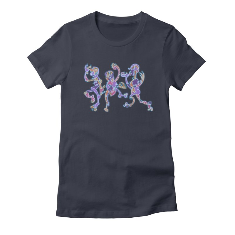 Dancing Figures Women's Fitted T-Shirt by BRAVO's Shop