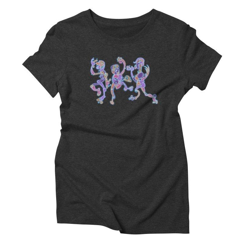 Dancing Figures Women's Triblend T-Shirt by BRAVO's Shop
