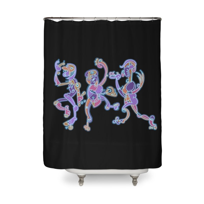 Dancing Figures Home Shower Curtain by BRAVO's Shop