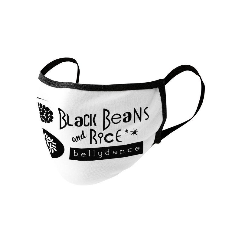 Black Beans and Rice Bellydance Accessories Face Mask by BRAVO's Shop