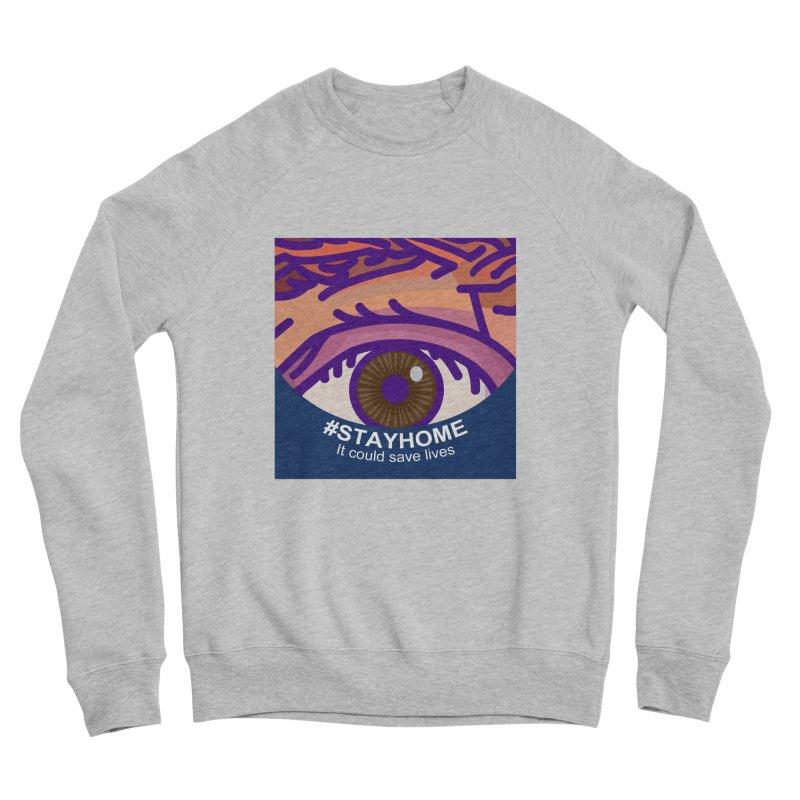 Stay Home Men's Sponge Fleece Sweatshirt by BRAVO's Shop