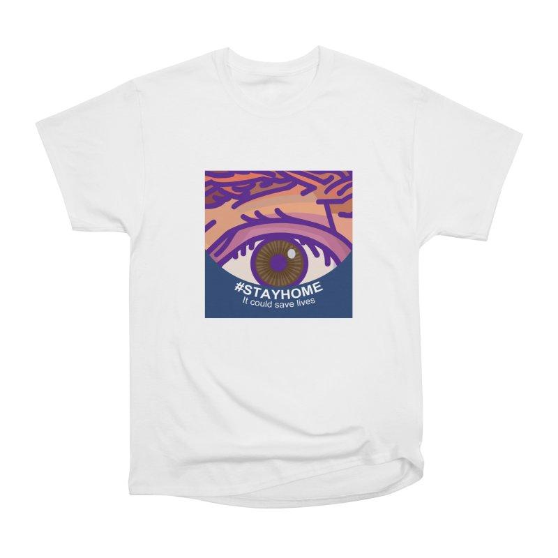 Stay Home Women's Heavyweight Unisex T-Shirt by BRAVO's Shop