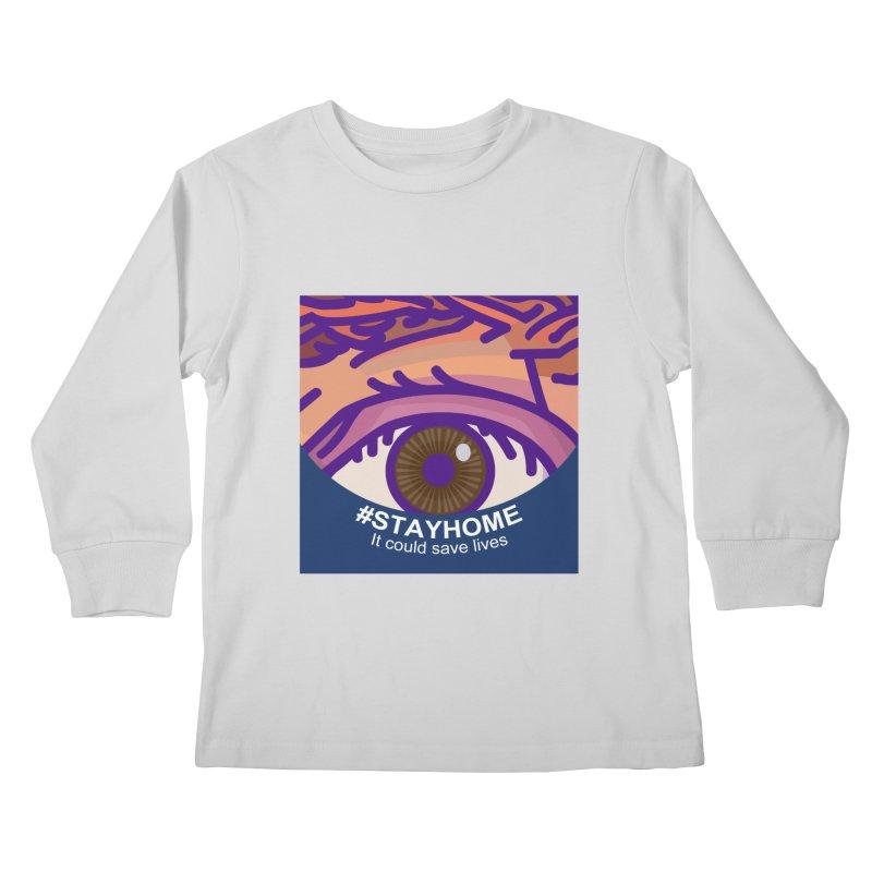 Stay Home Kids Longsleeve T-Shirt by BRAVO's Shop