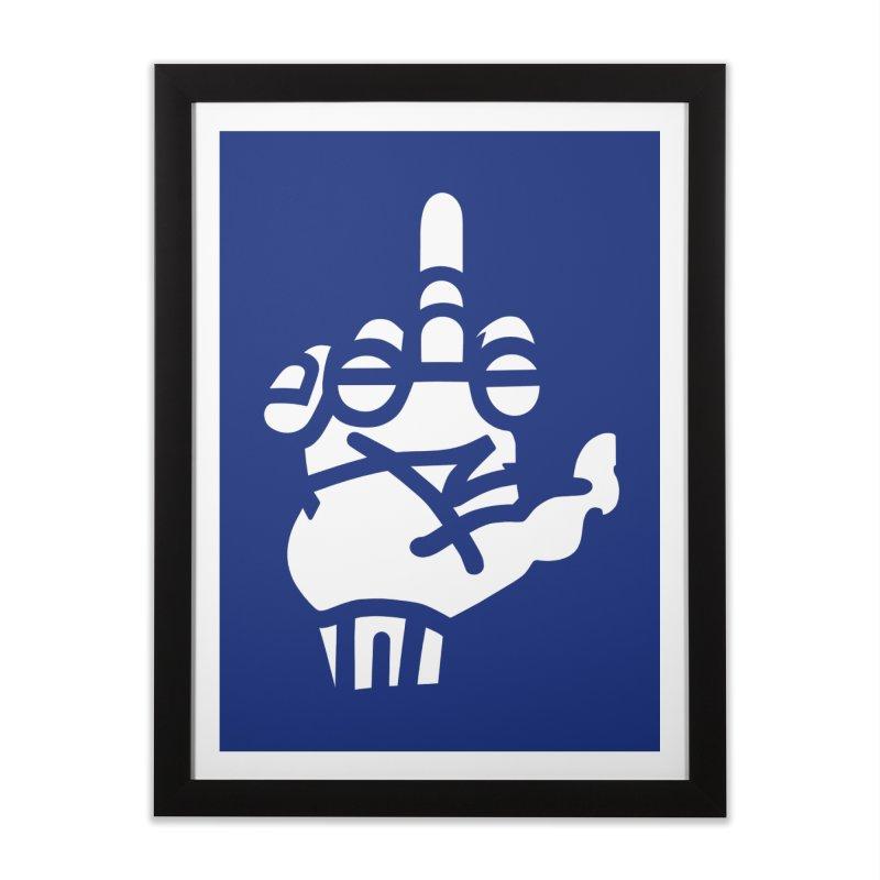 Middle Finger Cupcake Home Framed Fine Art Print by BRAVO's Shop