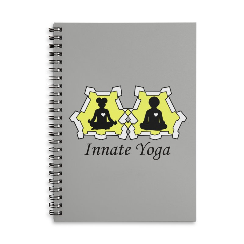 Innate Yoga Accessories Lined Spiral Notebook by BRAVO's Shop