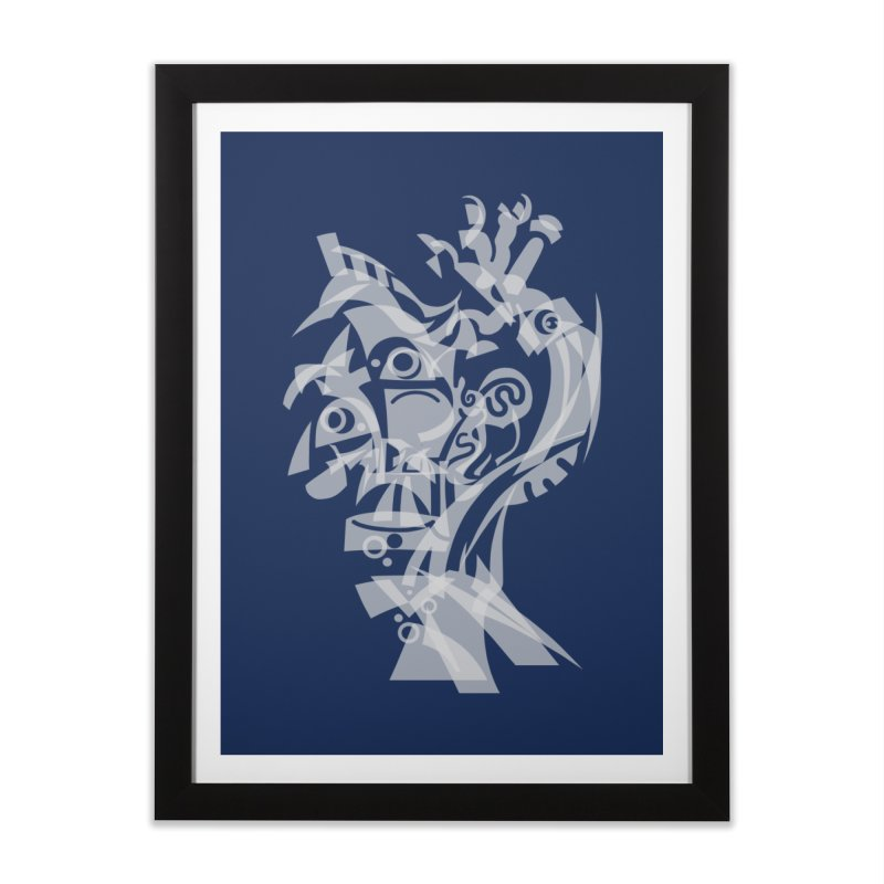 CUBIST BRAVO Home Framed Fine Art Print by BRAVO's Shop