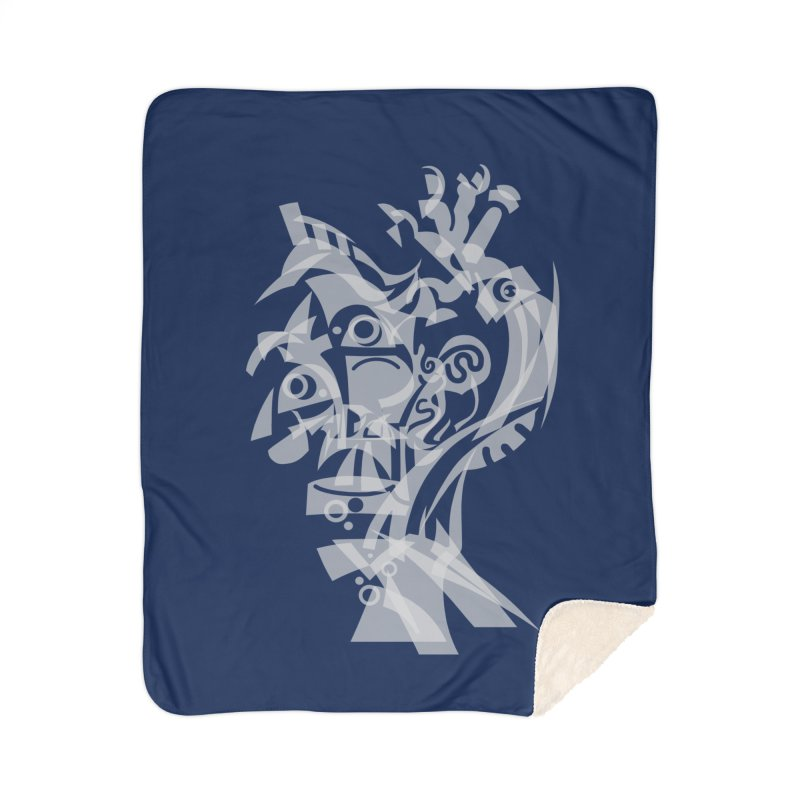 CUBIST BRAVO Home Sherpa Blanket Blanket by BRAVO's Shop