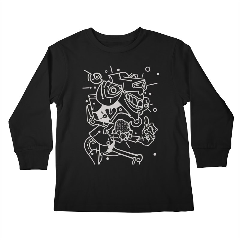 Minotaur Kids Longsleeve T-Shirt by BRAVO's Shop