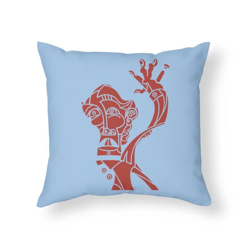 BRAVO ROJO Home Throw Pillow by BRAVO's Shop