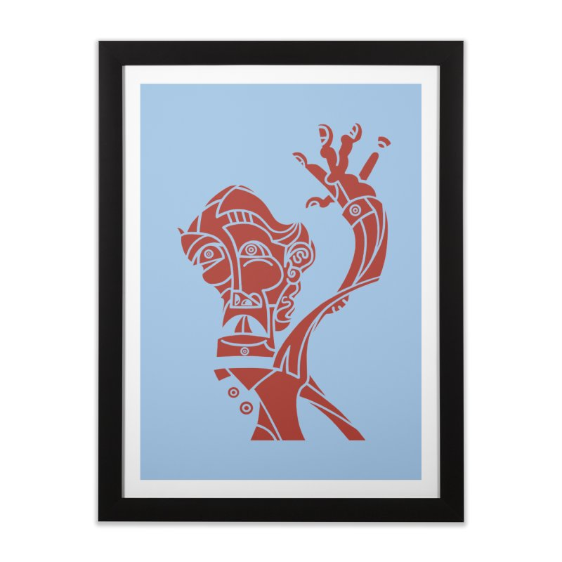 BRAVO ROJO Home Framed Fine Art Print by BRAVO's Shop