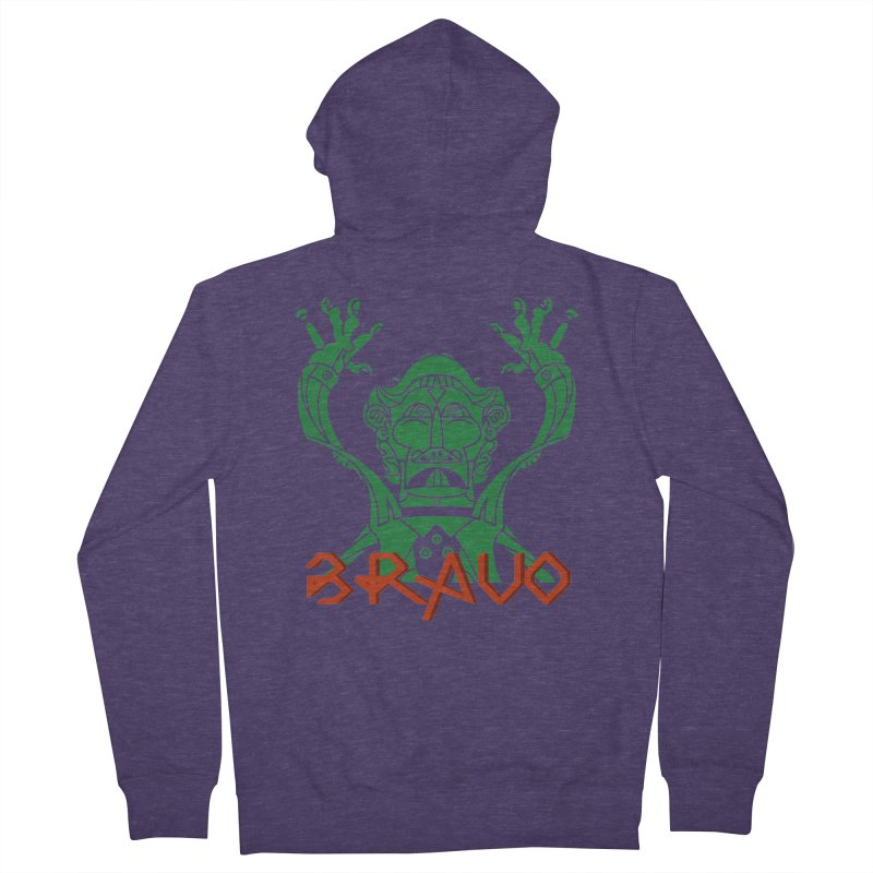 BRAVO VerDoble Men's French Terry Zip-Up Hoody by BRAVO's Shop