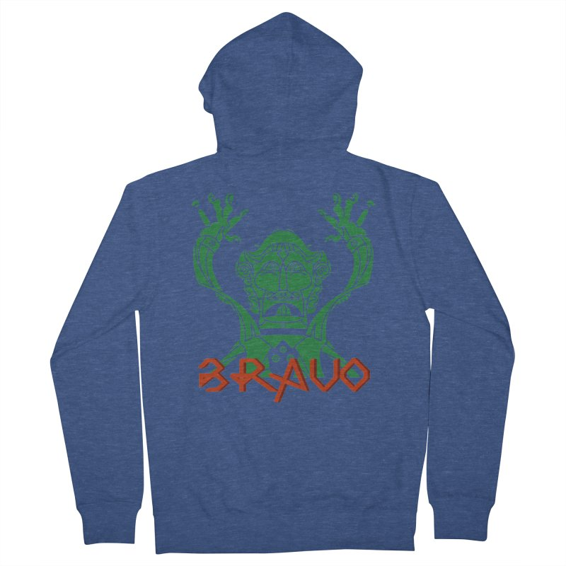 BRAVO VerDoble Men's French Terry Zip-Up Hoody by BRAVO's Shop