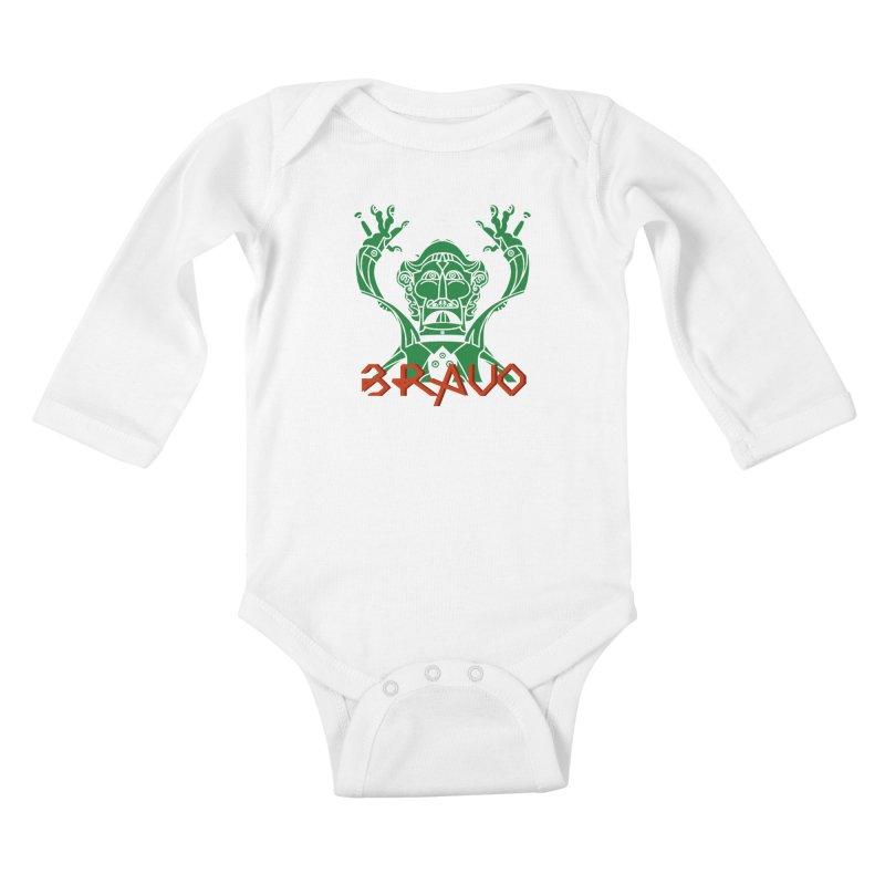 BRAVO VerDoble Kids Baby Longsleeve Bodysuit by BRAVO's Shop