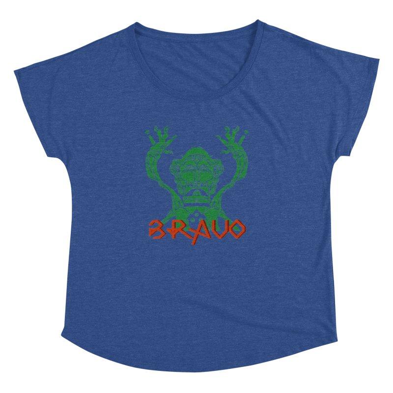 BRAVO VerDoble Women's Dolman Scoop Neck by BRAVO's Shop