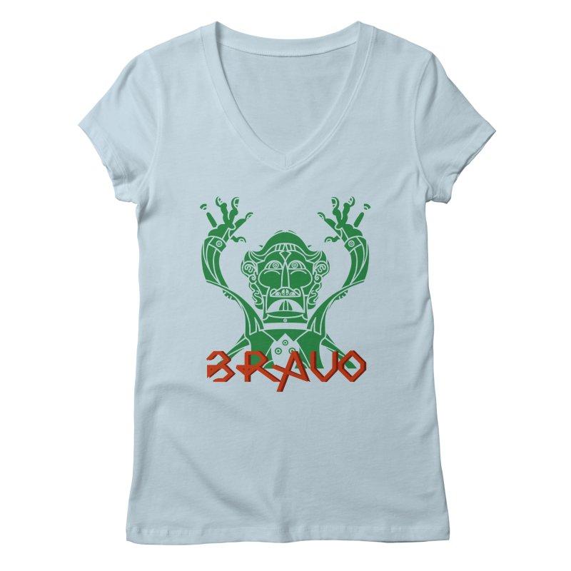 BRAVO VerDoble Women's Regular V-Neck by BRAVO's Shop
