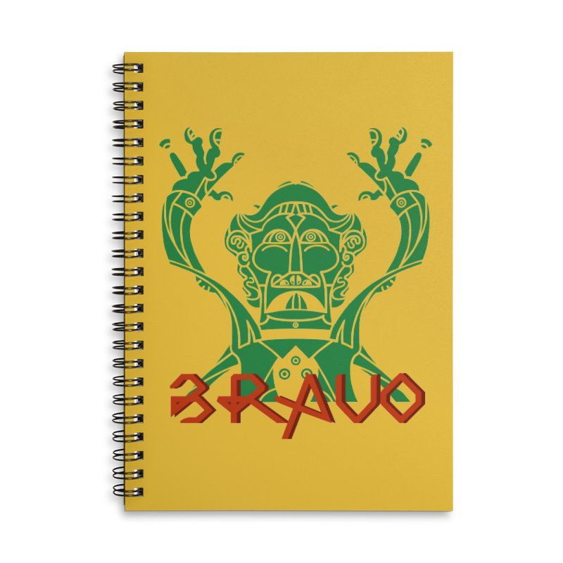 BRAVO VerDoble Accessories Lined Spiral Notebook by BRAVO's Shop
