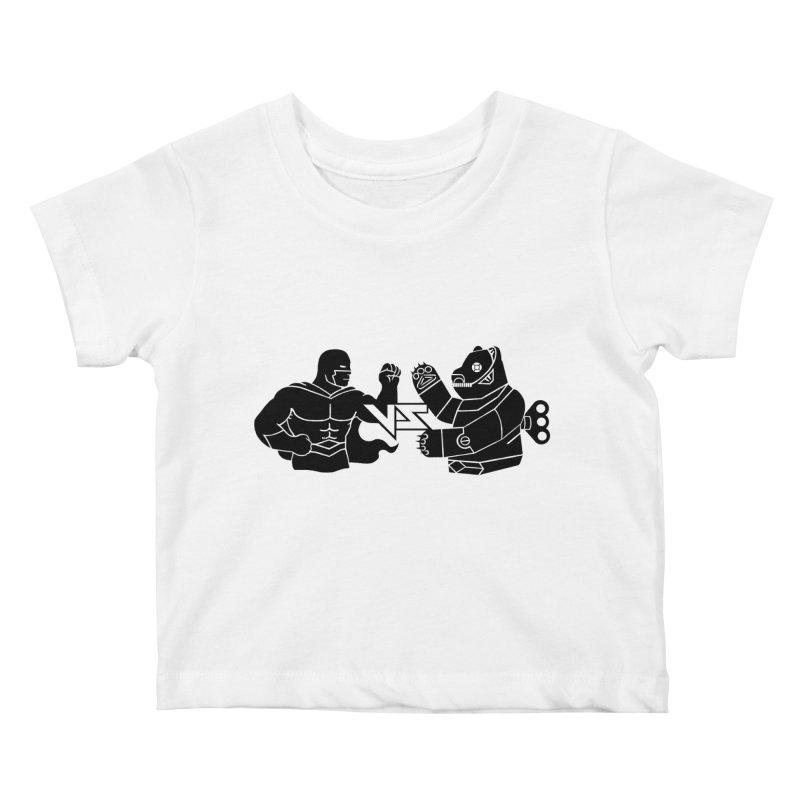 Comics VS Toys Kids Baby T-Shirt by BRAVO's Shop