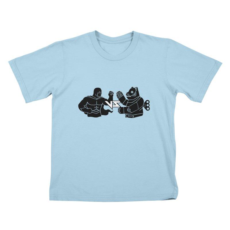 Comics VS Toys Kids T-Shirt by BRAVO's Shop