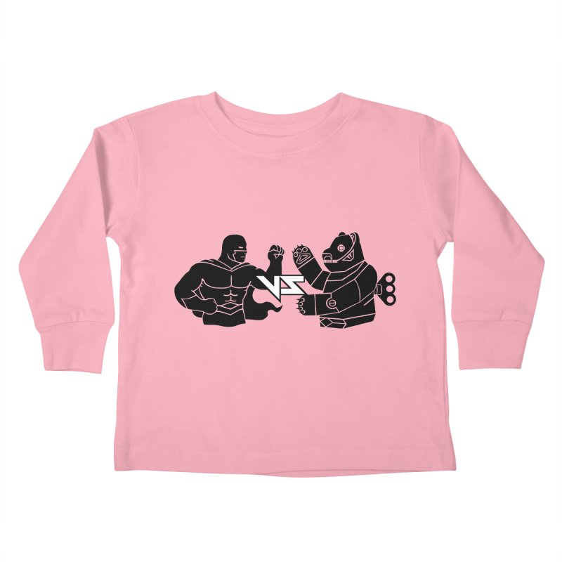 Comics VS Toys Kids Toddler Longsleeve T-Shirt by BRAVO's Shop